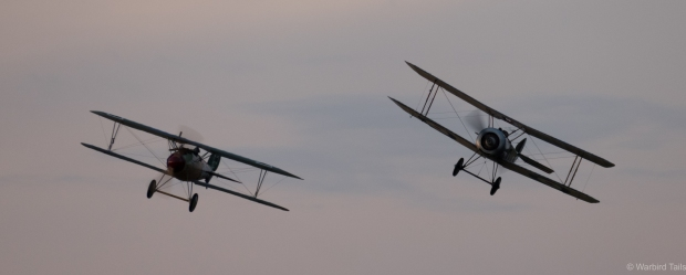 Watching the First World War aircraft perform in the twilight was a truly special experience.