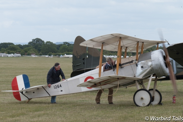 The Bristol Scout project's debut was undoubtedly a highlight of the show. Seen here performing an engine run.