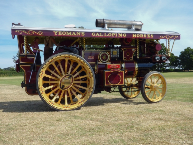 One of the many steam engines on display.