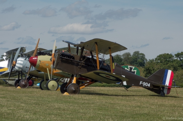 One of the few places you can see such a line up of WW1 types.