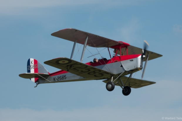 The Collection's Tiger Moth gets airborne ready for the mock race.