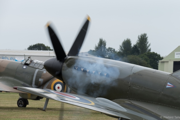 The wonderful sight and sound of a Spitfire bursting into life.