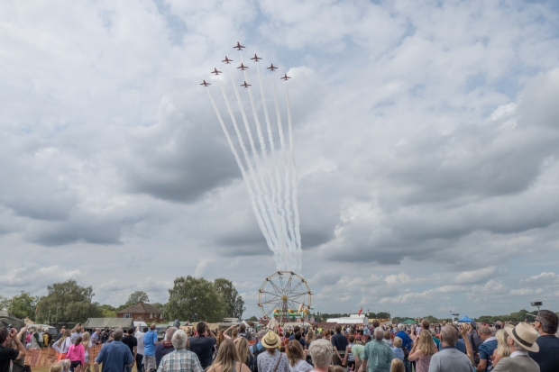 The Reds performing a memorable flypast on the Saturday of the event.