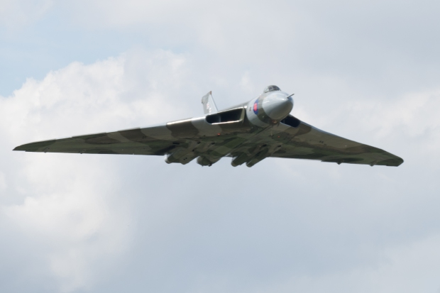 XH558 is always a welcome sight, especially at small airfields such as Headcorn.