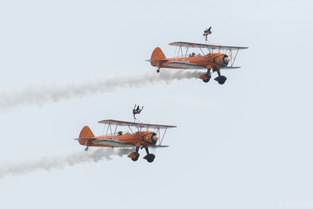 A welcome appearance by the Breitling Wingwalkers opened up the show.
