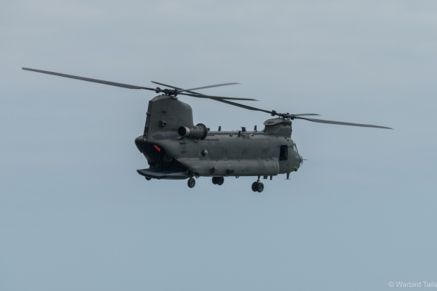 Words often can't describe the spectacle that is the RAF Chinook demo.