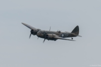 The Blenheim swooping over the channel.