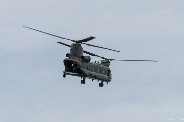 The Chinook during its display.