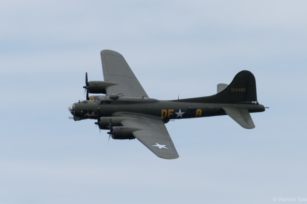 Sally B performed a graceful routine over Dunsfold.
