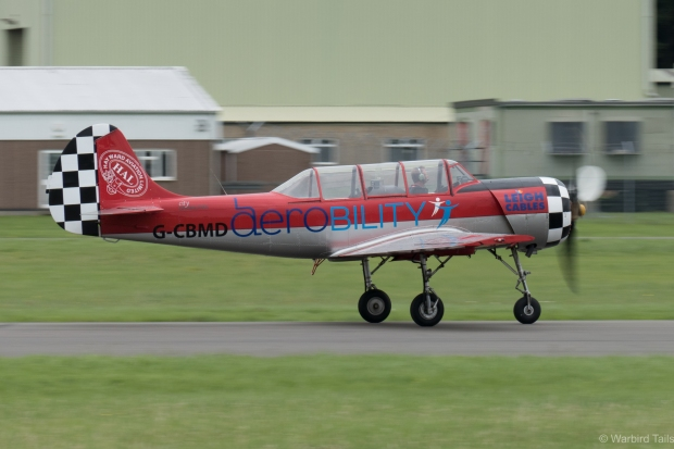 Guy Westgate rolling in the Yak 52.