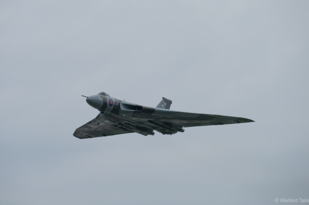 XH558 put in a great display between the showers.
