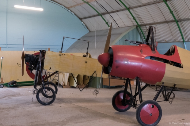 Another two recent arrivals to the museum, the Bleriot and Morane replicas.