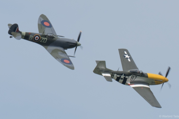 The Old Flying Machine Company pair put in their usual close formation display.