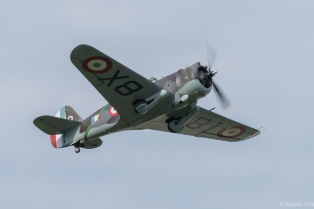 It was a nice change to see the Hawk 75 outside of Duxford.