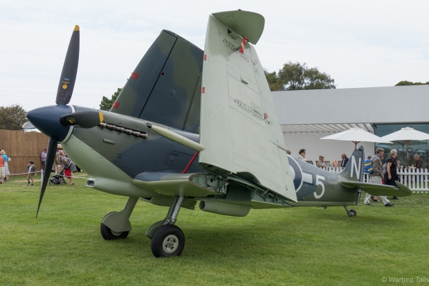 The recently restored Seafire III was another highlight, showing off its interesting wing fold.
