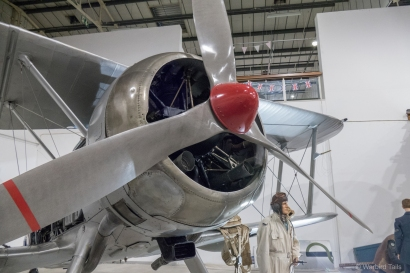 The museum's Gladiator features a 3-bladed propellor, a marked change from the airworthy examples in the country.