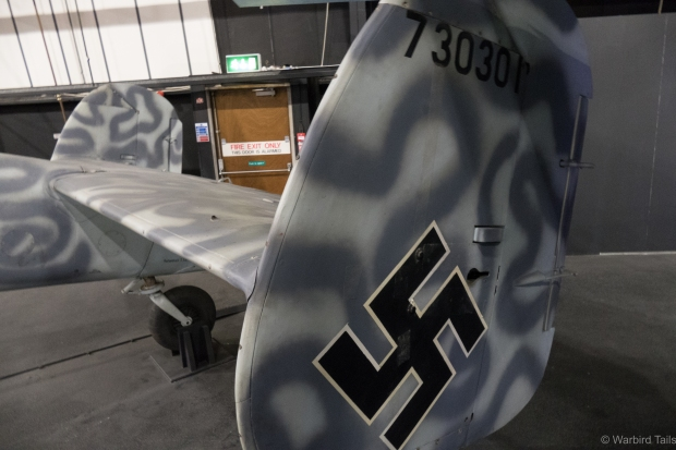The distinctive twin tails of the BF110.