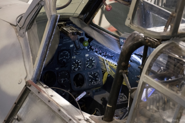 A view inside the cockpit of the BF110.
