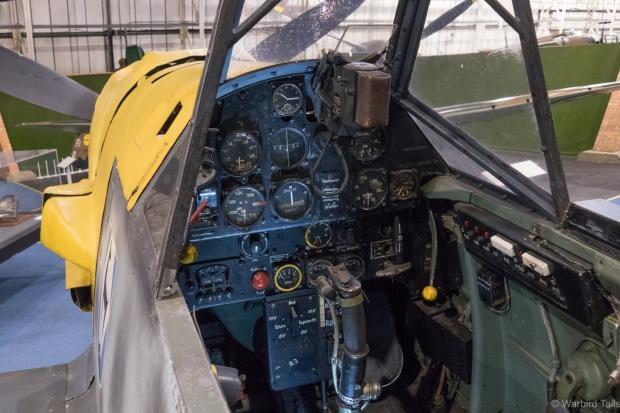 A rare view inside the 109E.
