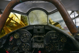 A pilots view of the Italian fighter.