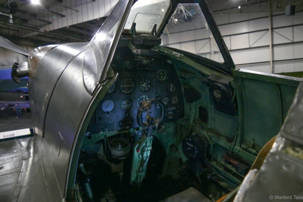 A look inside the Spitfire.