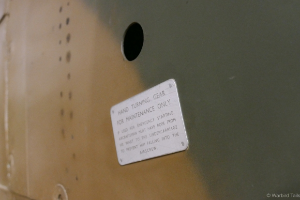 An interesting piece of detail on the Spitfire.