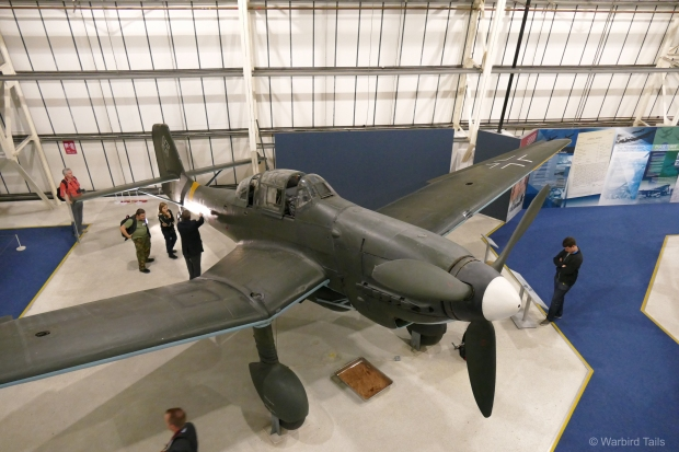As can be seen, the Stuka attracted a lot of attention on the night.
