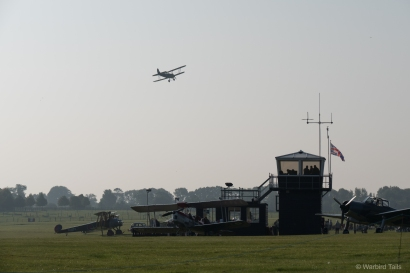 The early morning fog lifted quickly enough for some practice displays to take place.