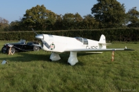 The Mew Gull on display in the aircraft paddock.