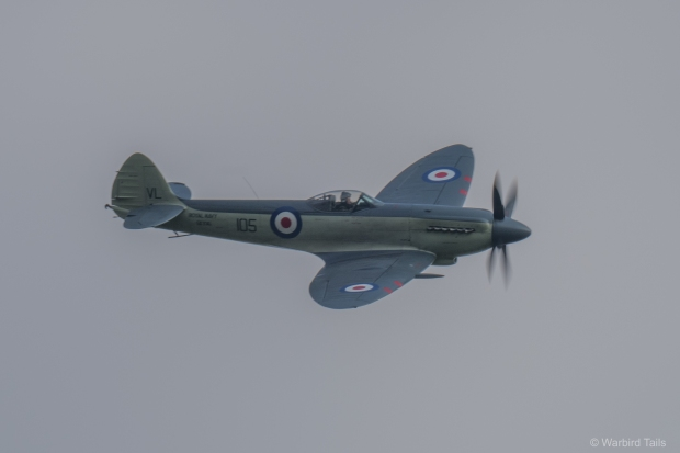 Chris Götke during his excellent demonstration of the Seafire XVII
