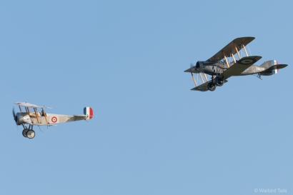 Two Bristol WW1 types in close formation, a fantastic sight.