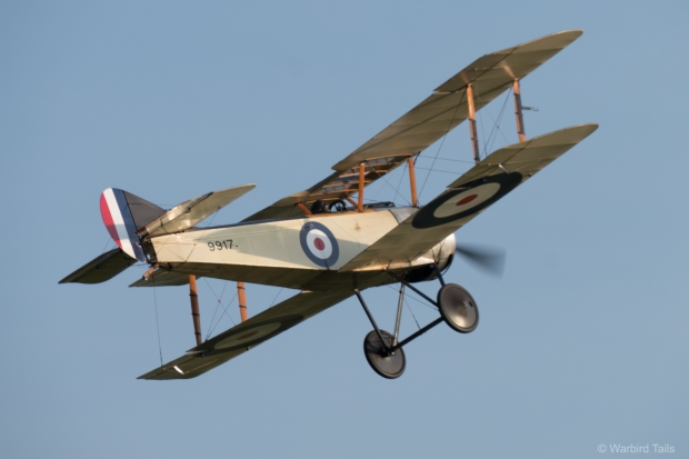 The Sopwith Pup making the most of some late afternoon sun.