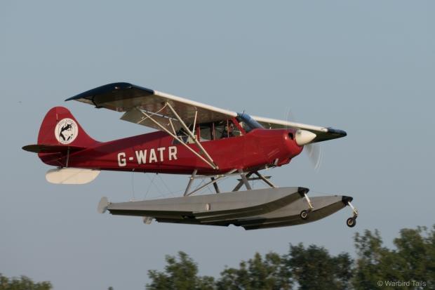 Anna Walker departing in the Husky float plane.