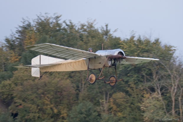 The Blackburn Monoplane lifts off.