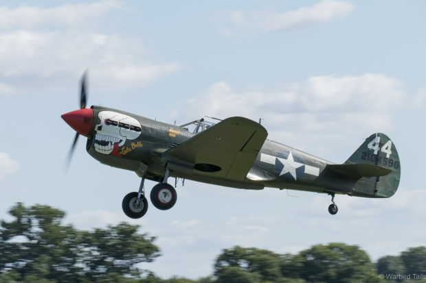 The P-40 gets airborne.