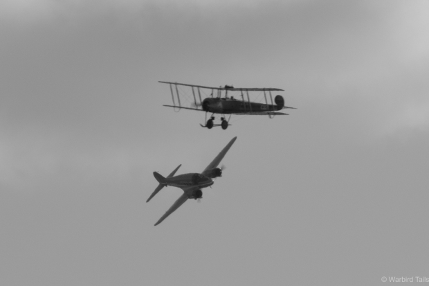 Two great Avro designs in the sky together.