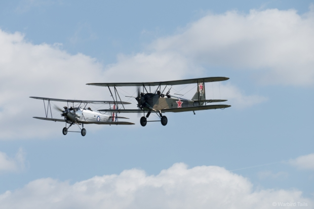 An unusual pairing, Polikarpov PO2 and Hawker Tomtit.