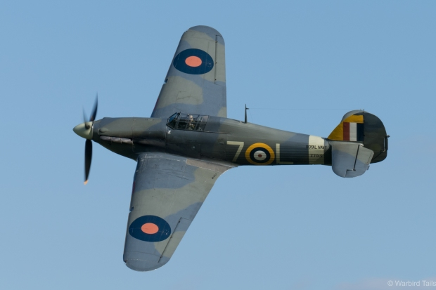 The Sea Hurricane during the display.