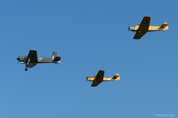 Training through the ages - The Collection's Piston Provost leads a pair of Miles Magisters.