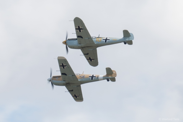 The Buchon pair during their mock airfield attack.