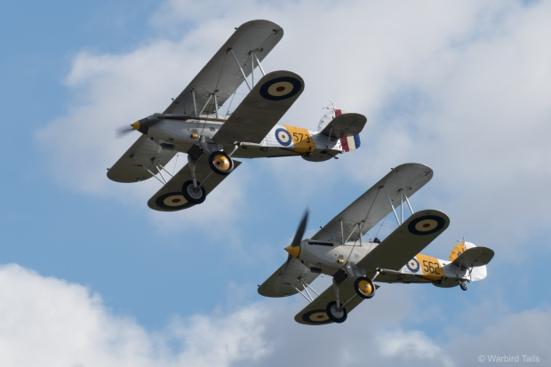 The graceful sight and sound of two Hawker Nimrods.