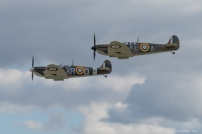 The Commanche fighters Spitfire Mk I pair.
