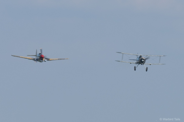 The Gladiator was joined by the P-40F on the Sunday.