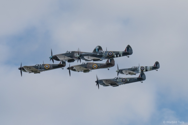 The BBMF managed to get all their airworthy fighters up together for an impressive performance.